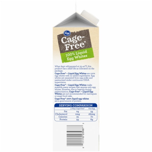 Kroger® Cage Free Egg Whites Perspective: left
