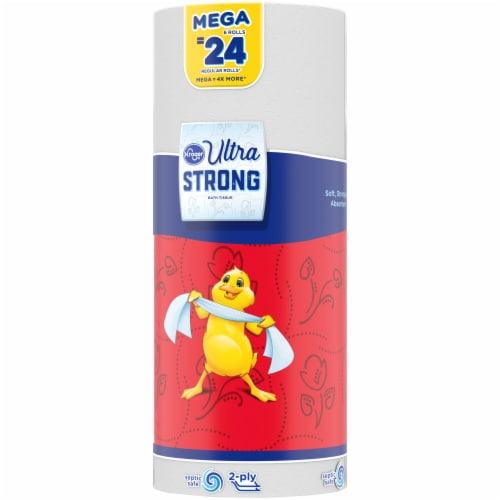 Kroger® Ultra Strong Mega Roll Bath Tissue Perspective: left