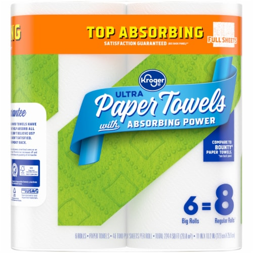 Kroger® Ultra Absorbing Power Full Sheet Paper Towels Perspective: left