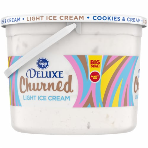 Kroger® Deluxe Churned Cookies & Cream Light Ice Cream Perspective: left
