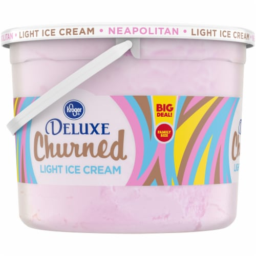 Kroger® Deluxe Churned Neapolitan Light Ice Cream Perspective: left