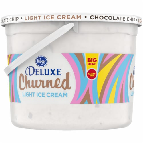 Kroger® Deluxe Churned Chocolate Chip Light Ice Cream Perspective: left