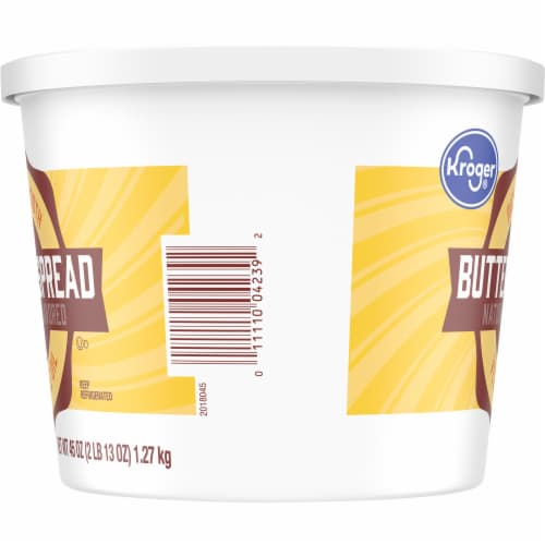 Kroger 40% Vegetable Oil Buttery Spread Tub Perspective: left