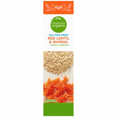 Simple Truth Organic® Gluten Free Red Lentil & Quinoa Fusilli Pasta Perspective: left