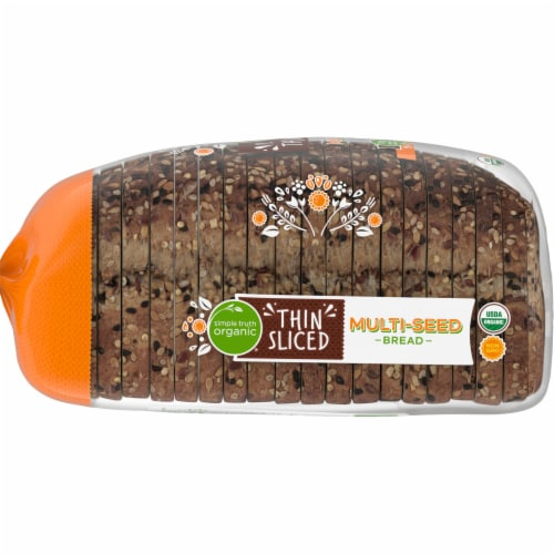 Simple Truth Organic™ Multi-Seed Thin Sliced Bread Loaf Bag Perspective: left