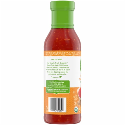 Simple Truth Organic™ Sweet Thai Style Chili Sauce Bottle Perspective: left
