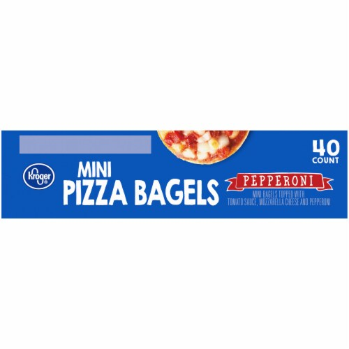 Kroger® Pepperoni Mini Pizza Bagels Perspective: left