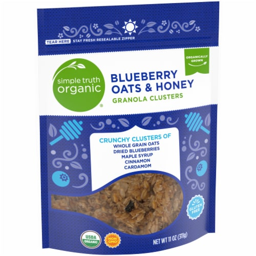 Simple Truth Organic® Gluten Free Blueberry Oats & Honey Granola Clusters Perspective: left