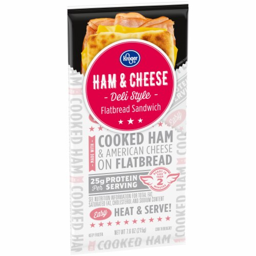 Kroger® Ham and Cheese Deli Style Flatbread Sandwich Perspective: left