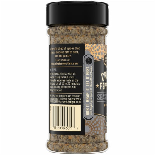 Private Selection™ Cracked Peppercorn Seasoning Rub Perspective: left