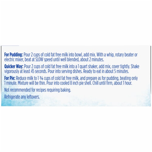 Kroger® Sugar Free Vanilla Pudding & Pie Filling Perspective: left