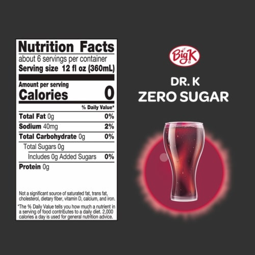 Big K® Dr. K OH! Zero Calorie Soda Perspective: left