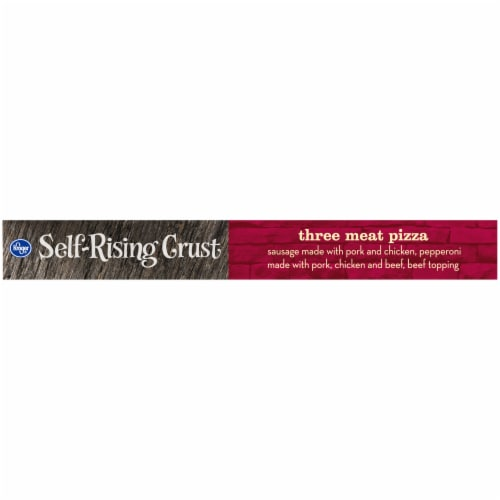 Kroger Three Meat Pizza Self Rising Crust Perspective: left