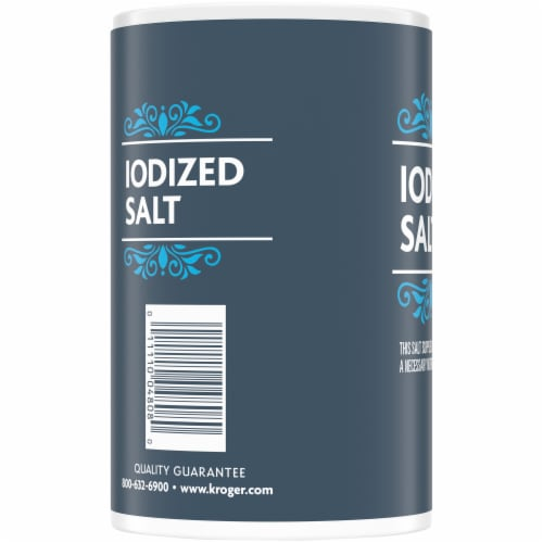 Kroger® Iodized Salt Perspective: left
