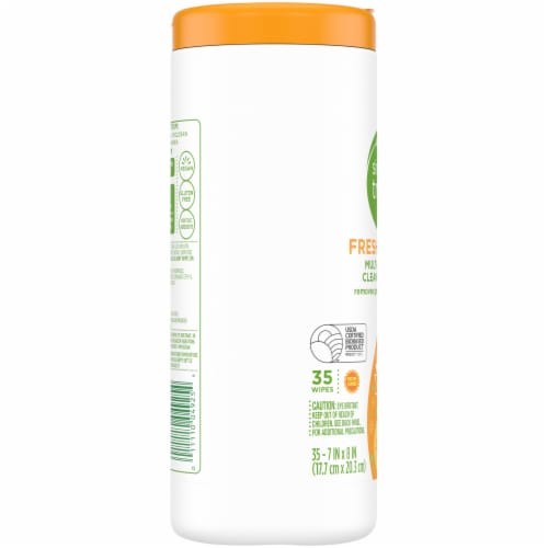 Simple Truth™ Fresh Citrus Multi-Surface Cleaning Wipes Perspective: left