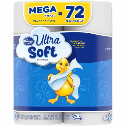 Kroger® Ultra-Soft Mega Bath Tissue Perspective: left