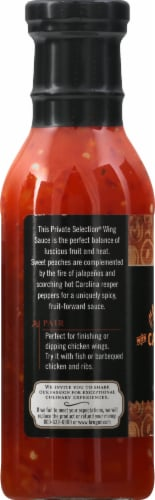 Private Selection® Peach Carolina Reaper Hot Wing Sauce Perspective: left