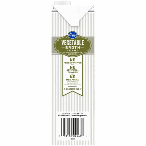 Kroger® Fat Free Vegetable Broth Perspective: left