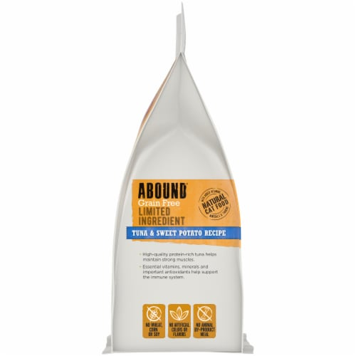 Abound® Grain Free Limited Ingredient Tuna & Sweet Potato Recipe Natural Dry Cat Food Perspective: left