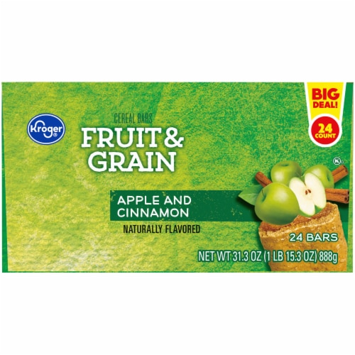 Kroger® Fruit & Grain Apple and Cinnamon Cereal Bars Perspective: left