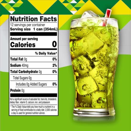 Big K Citrus Drop Zero Calorie Soda Perspective: left