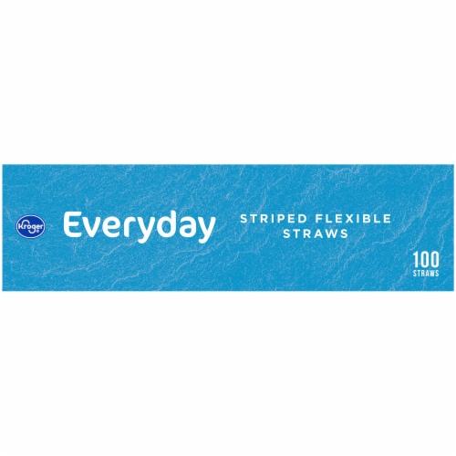 Kroger® Stripe Flexible Straws Perspective: left