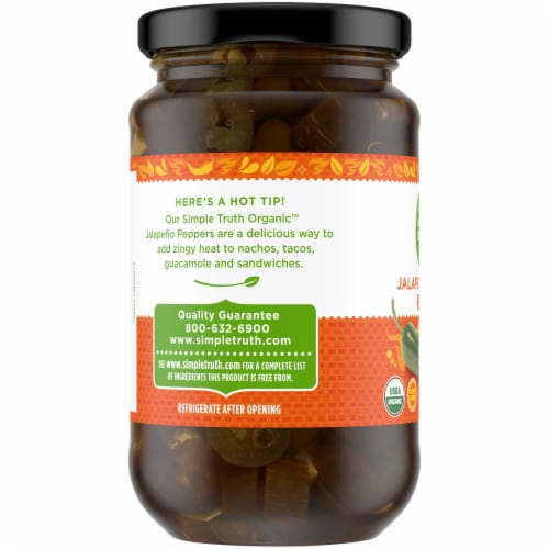 Simple Truth Organic™ Sliced Medium Hot Jalapeno Peppers Perspective: left