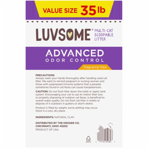 Luvsome® Advanced Odor Control Fragrance Free Multi-Cat Scoopable Litter Perspective: left