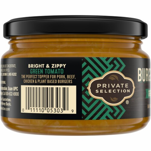 Private Selection® Green Tomato Burger Topper Perspective: left