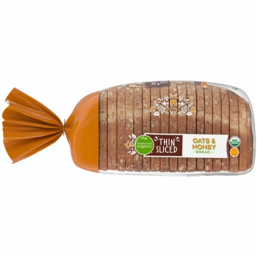 Simple Truth Organic® Oats & Honey Thin Sliced Bread Perspective: left