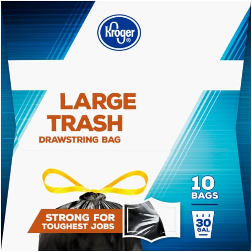 Kroger® 30 Gallon Large Drawstring Trash Bags Perspective: left