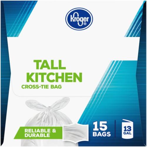 Kroger® 13 Gallon Cross-Tie Tall Kitchen Trash Bags Perspective: left