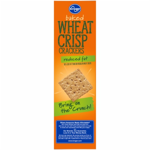 Kroger® Reduced Fat Wheat Crisp Crackers Perspective: left