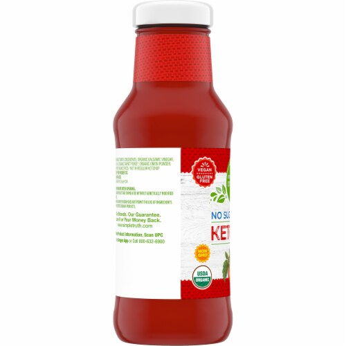 Simple Truth Organic® Gluten Free No Sugar Added Ketchup Perspective: left