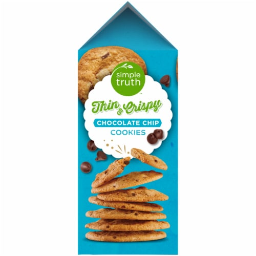 Simple Truth™ Chocolate Chip Thin and Crispy Cookies Perspective: left