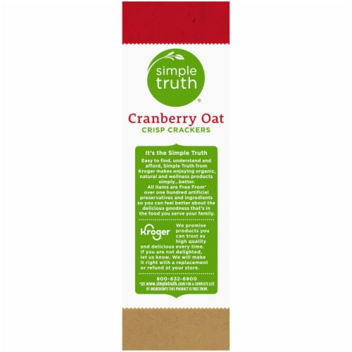 Simple Truth® Cranberry Oat Crisp Crackers Perspective: left
