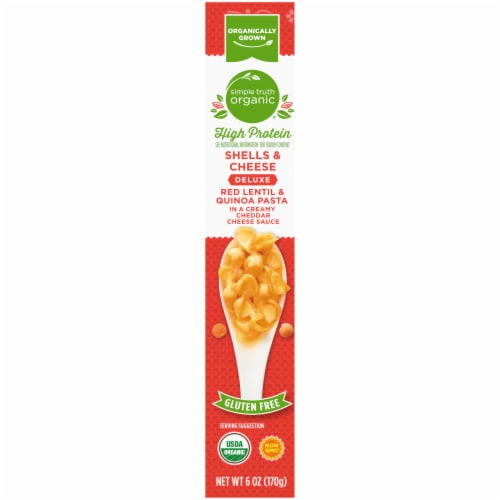 Simple Truth Organic® Gluten Free High Protein Red Lentil & Quinoa Pasta Shells & Cheese Perspective: left