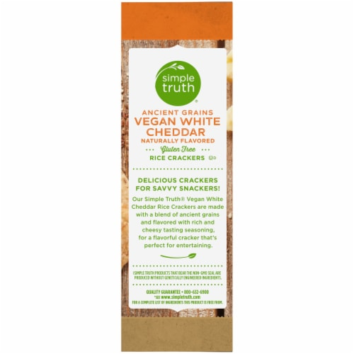 Simple Truth® Ancient Grains Vegan White Cheddar Rice Crackers Perspective: left