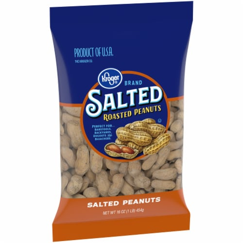 Kroger® Salted Roasted In-Shell Peanuts Perspective: left