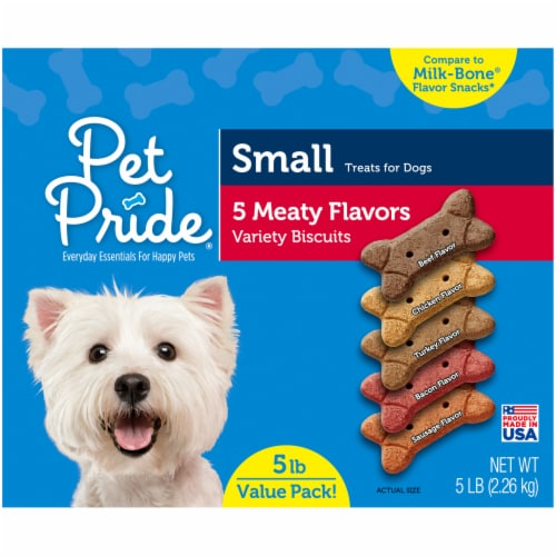 Pet Pride® Meaty Flavors Small Dog Treats Value Pack Perspective: left