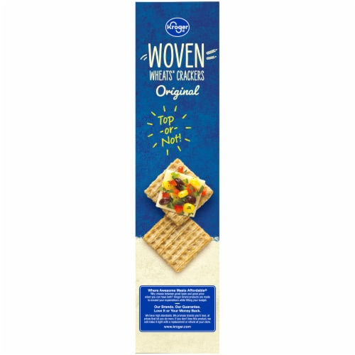 Kroger® Woven Wheats® Original Crackers Perspective: left