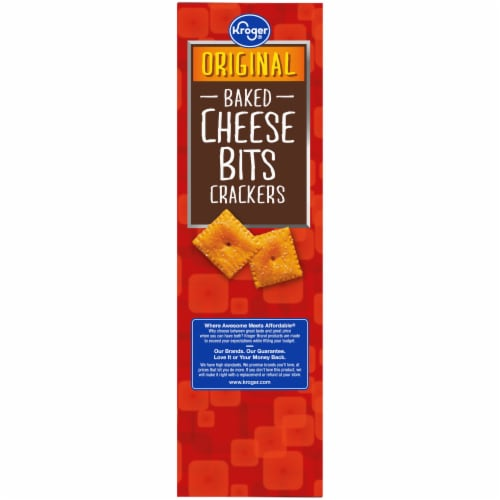 Kroger® So Cheesy! Original Baked Cheese Bits Crackers Perspective: left
