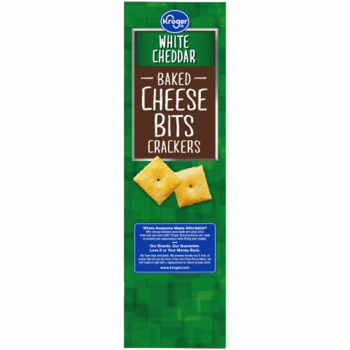 Kroger® White Cheddar Baked Cheese Bits Crackers Perspective: left
