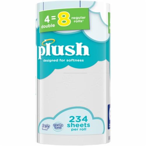 Plush Double Roll Bath Tissue Perspective: left