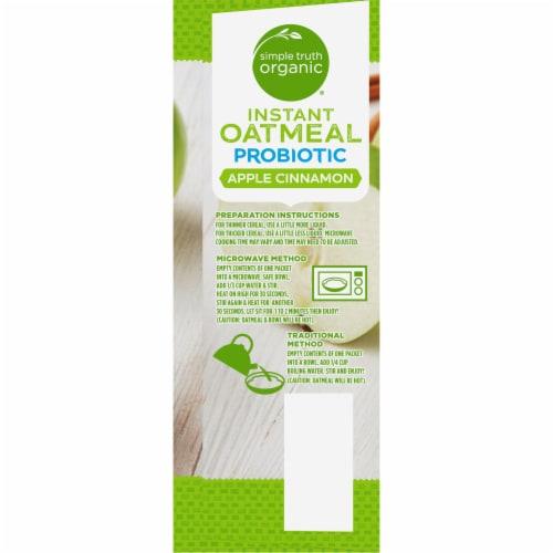 Simple Truth Organic® Probiotic Apple Cinnamon Instant Oatmeal Perspective: left