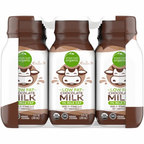 Simple Truth Organic® Low Fat Chocolate Milk Perspective: left