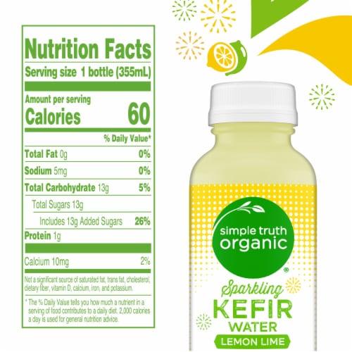 Simple Truth Organic™ Sparkling Probiotic Lemon Lime Kefir Water Drink Perspective: left
