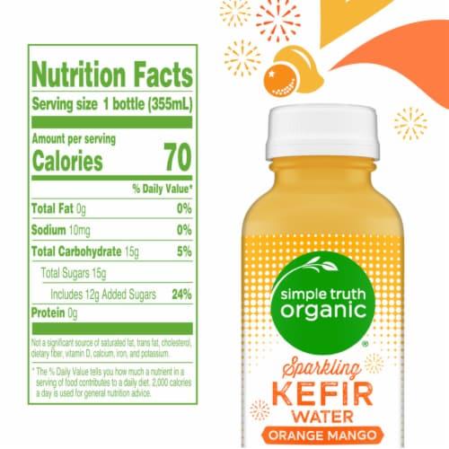 Simple Truth Organic™ Sparkling Probiotic Orange Mango Kefir Water Drink Perspective: left