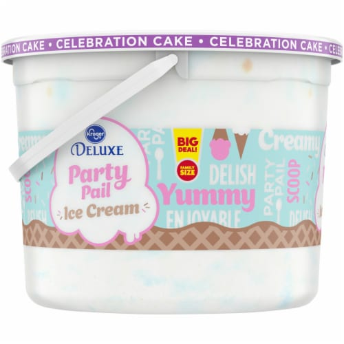 Kroger® Deluxe Party Pail Celebration Cake Ice Cream Family Size Perspective: left