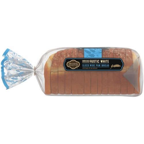 Private Selection® Enriched Rustic White Sliced Wide Pan Bread Perspective: left